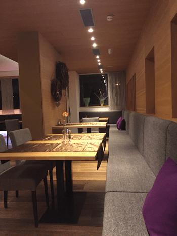 Der Restaurantbereich im Hotel Ritzenhof