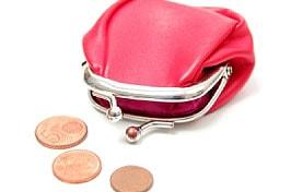 Die rote Tasche symbolisiert den Einkommensunterschied zwischen Männern und Frauen; Bildquelle: istockphoto, PIKSEL