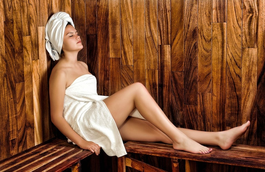 Entspannung in der Sauna