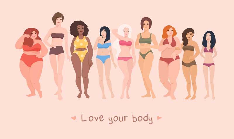 Wohlfühlen hängt nicht vom BMI ab.