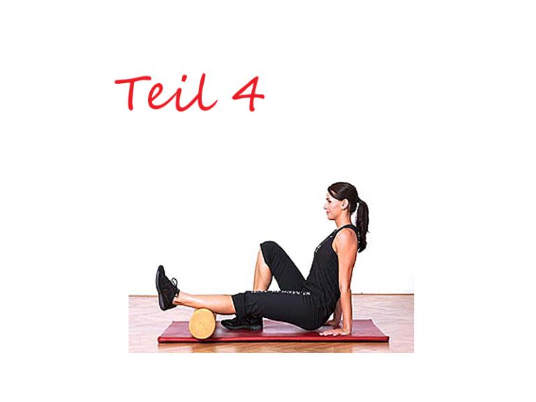 Skigymnastik Teil 4 – Dehnen der Muskeln mit einer Schaumstoffrolle