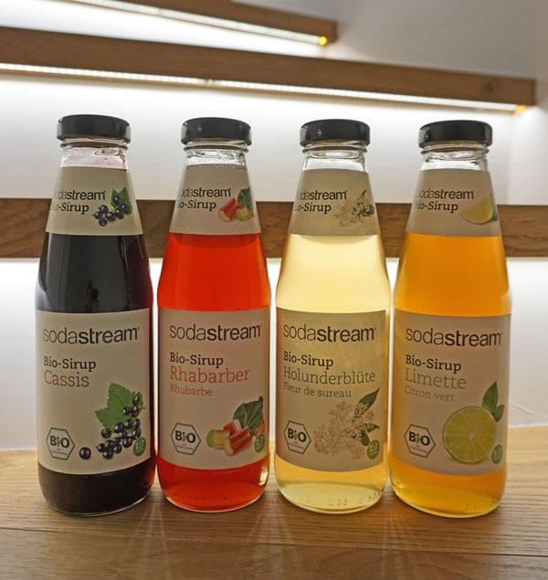 Die Biosirup-Auswahl von Sodastream