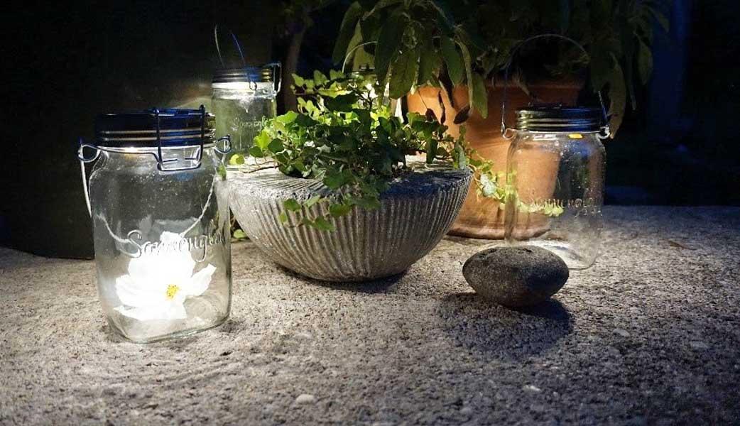 Sonnenglas - nachhaltige Beleuchtung für den Garten