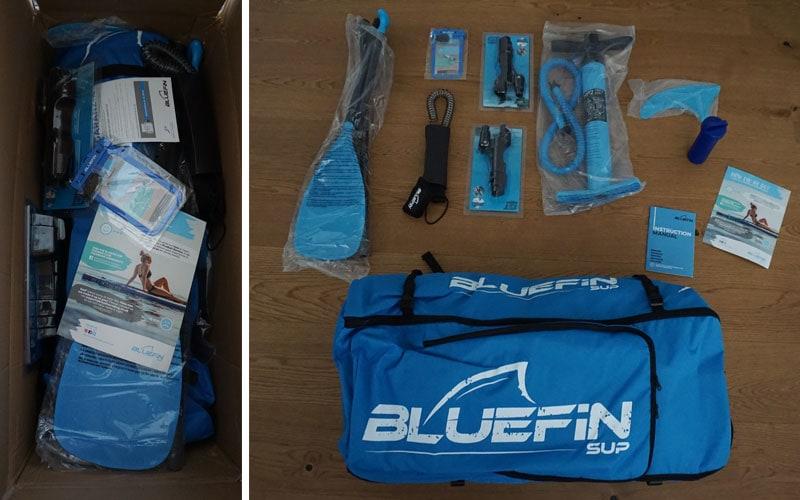 Unboxing des Bluefin Voyage 10´10 SUP