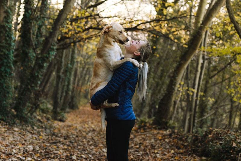 Spaziergänge mit dem Hund tun gut.