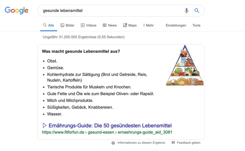 Suchergebnis Gesunde Ernährung