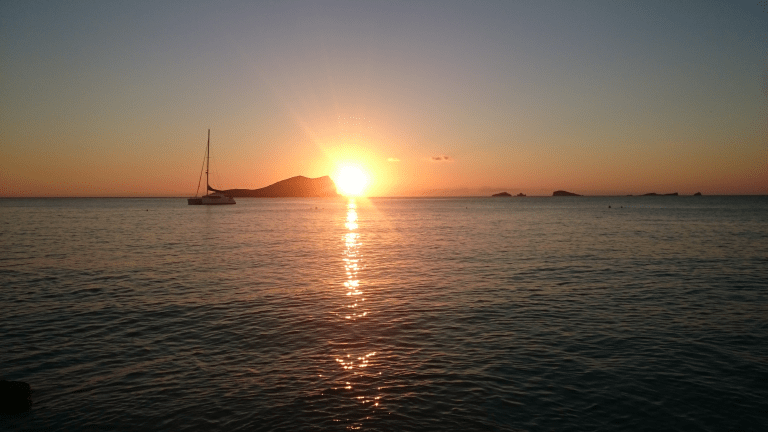 Sonnenuntergang in Cala Comte