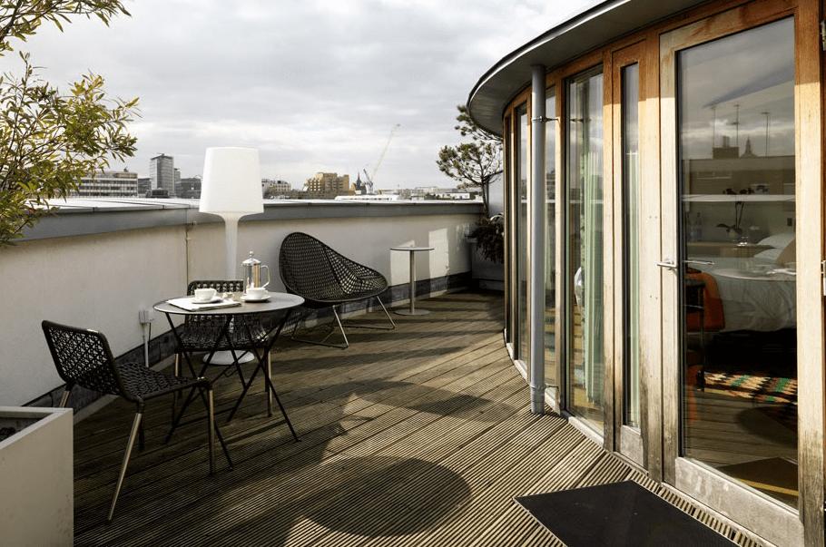 Die Rooftop-Terrasse im Hotel The Zetter
