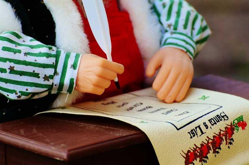 Schreib rechtzeitig eine Wunschliste.