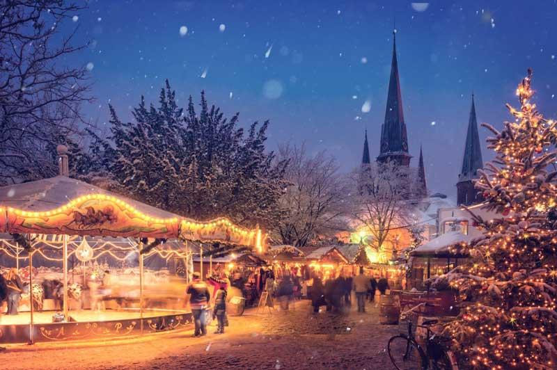 Romantische Stimmung am Weihnachtsmarkt