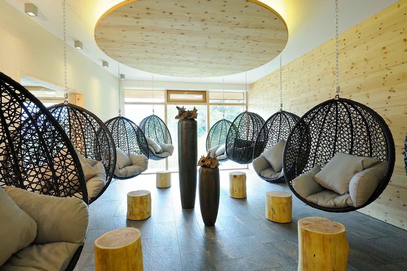 Die Ruhezone im Wellnessbereich
