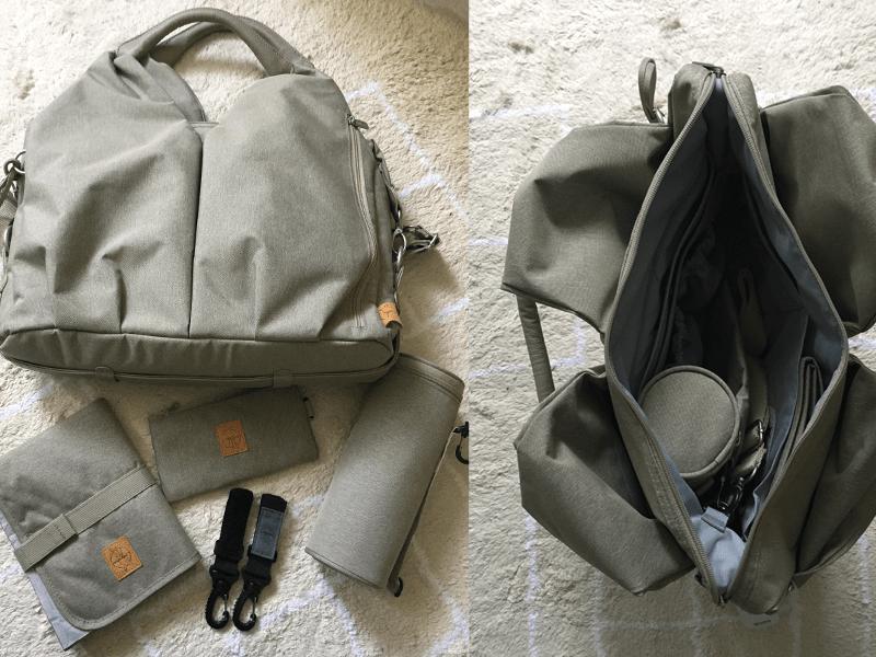 Zahlreiches Zubehör und viel Platz zum Verstauen: Wickeltasche von Lässig