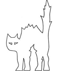 Vorlage für buckelige Katze