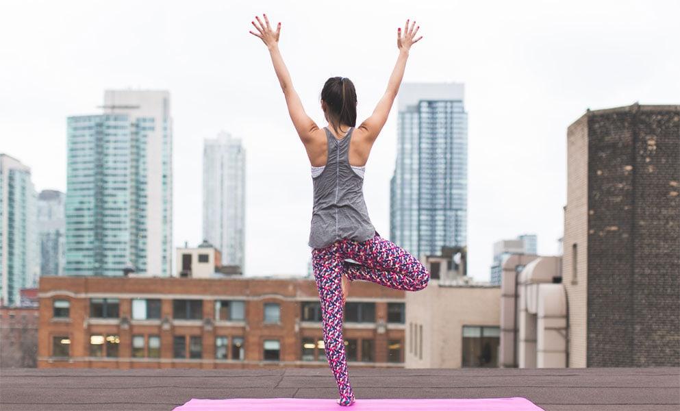 Yoga-Position: Der Baum