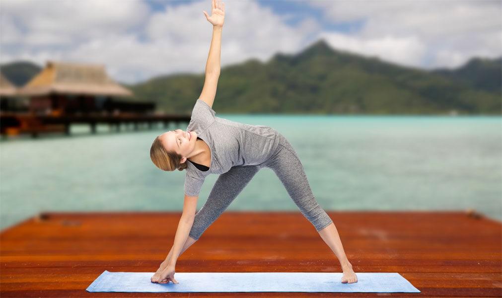 Yoga-Position: Das Dreieck
