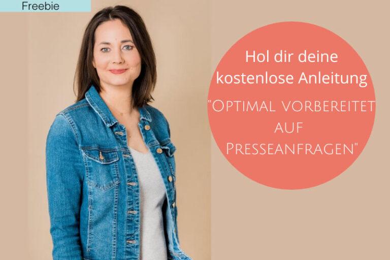"""Anleitung """"Optimal vorbereitet auf Presseanfragen"""""""