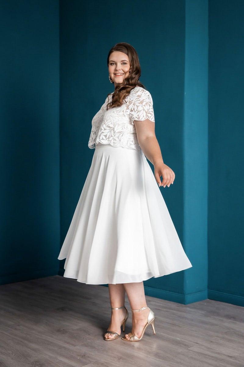 Zweiteiliges Brautkleid Emmi curvy von Noni