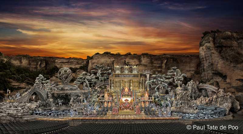 Imposantes Bühnenbild: Turandot in St. Margarethen