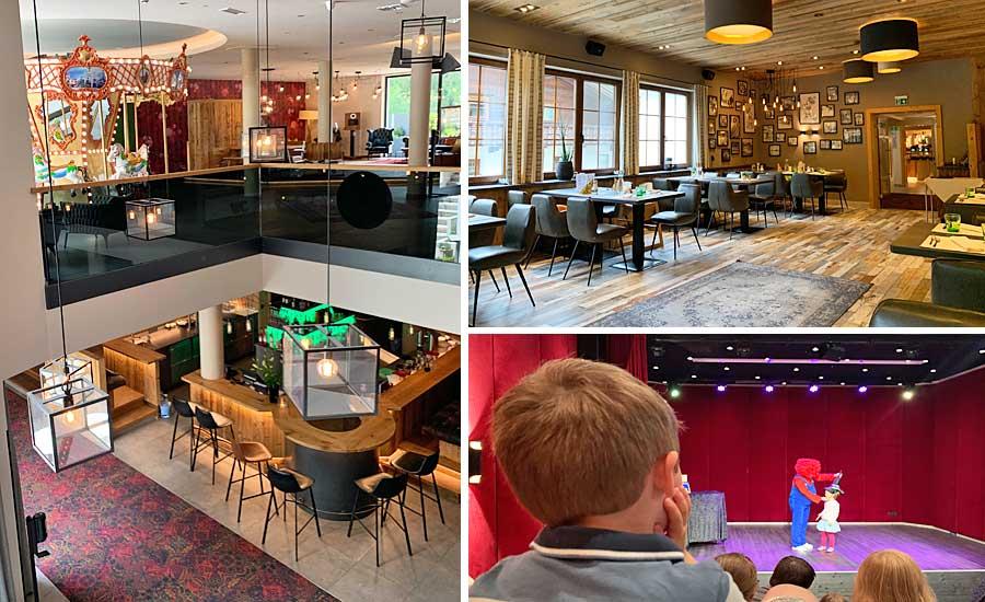 Restaurant und Bar im Kinderhotel Kröller