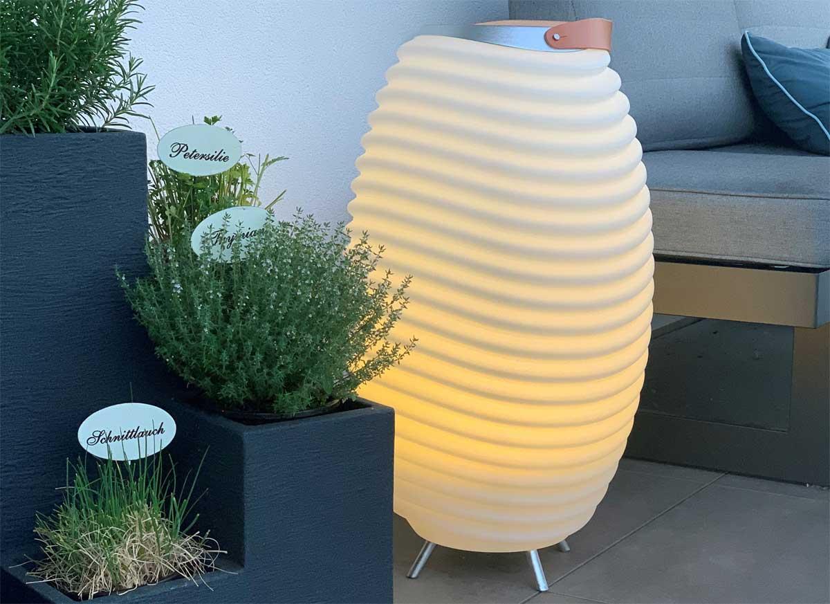 Kooduu Synergy S - Lampe, Lautsprecher und Weinkühler in einem