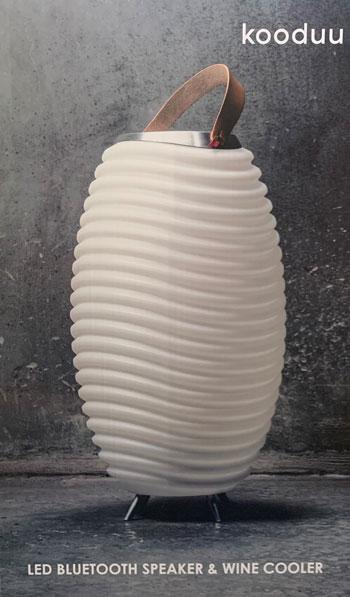 Kooduu Synergy S Lampe, Lautsprecher und Weinkühler in einem