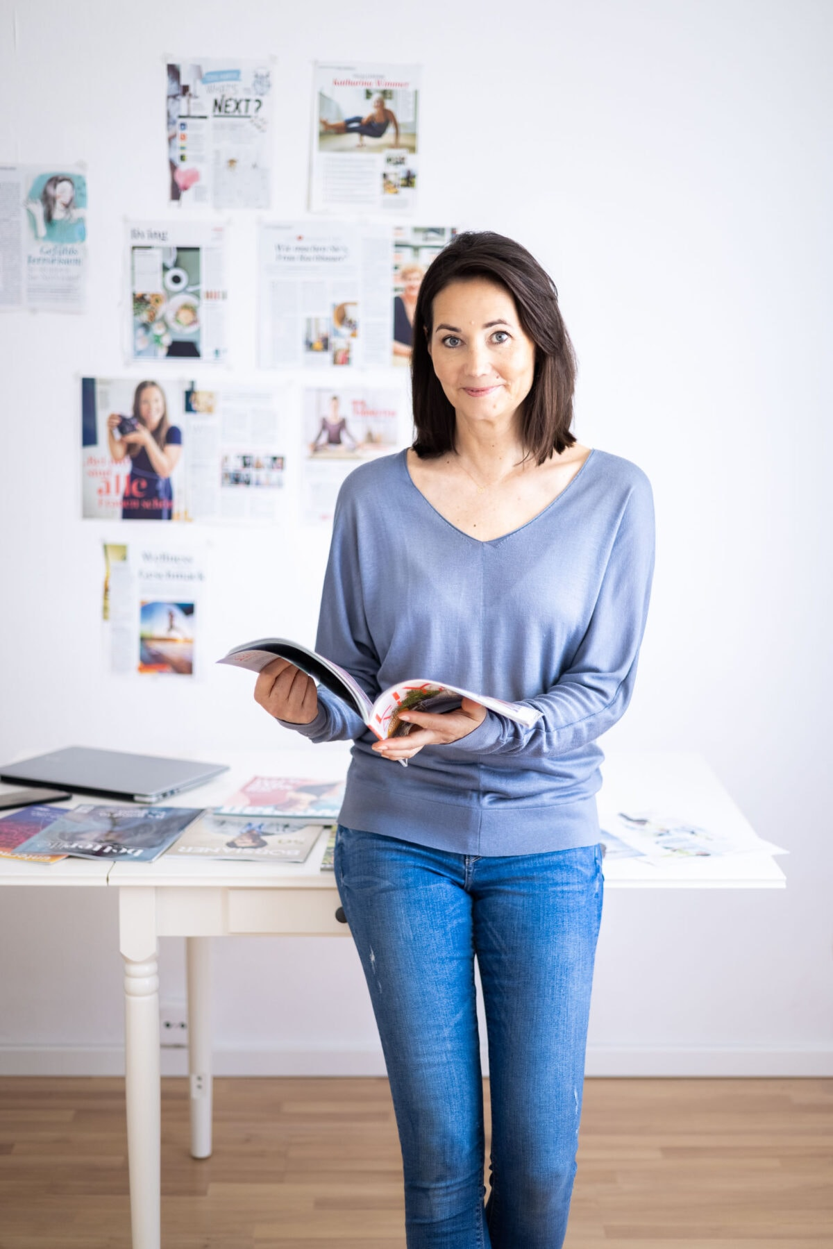 Martina Limlei in der Redaktion