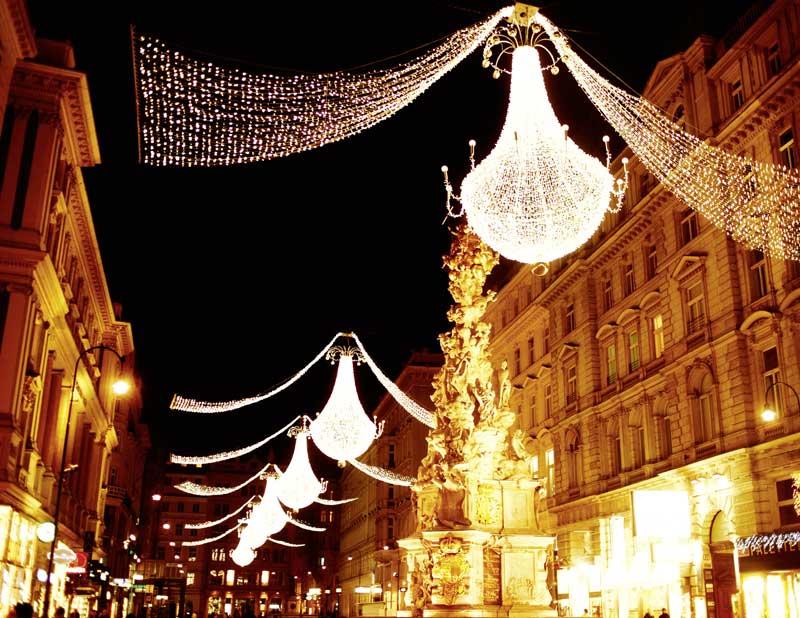 Wien im Advent: Riesige Weihnachts-Luster am Graben © WienTourismus /Peter Rigaud