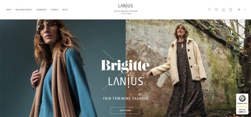 green fashion label LANIUS